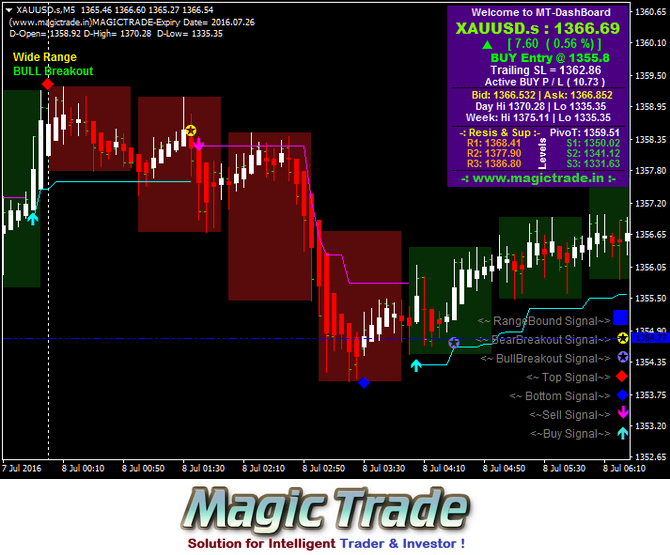 Software trading system intraday